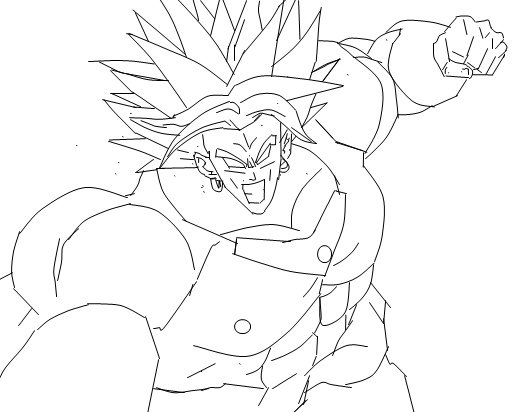 Supafan union gallery style 1534 - Coloriage broly ...